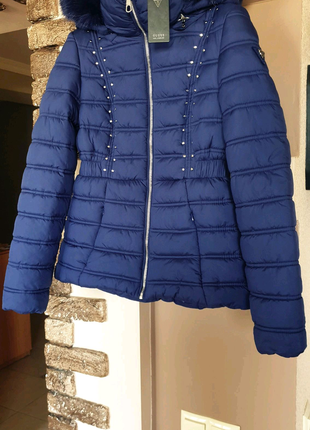 Женская зимняя куртка пуховик GUESS. Новая. Оригинал! Размер S.