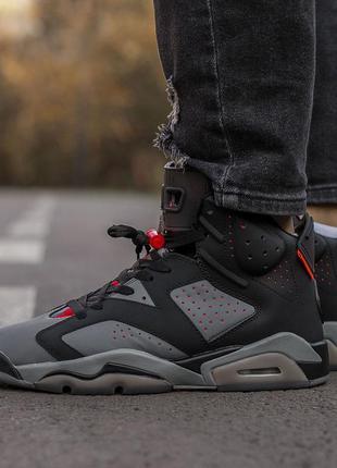 Nike air jordan 6 retro black grey