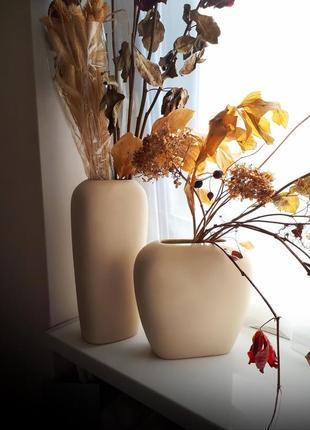 Декоративные вазы, большие, керамика - 2шт. комплект