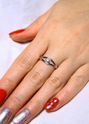 Кольцо серебро 925 проба 16.5 размер