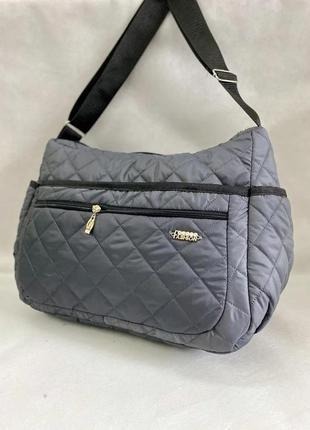 Стеганая болоньевая сумка, сумка женская на каждый день