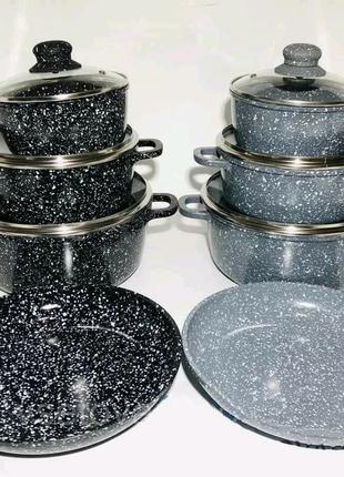 Набор посуды кастрюли сковорода ковшик