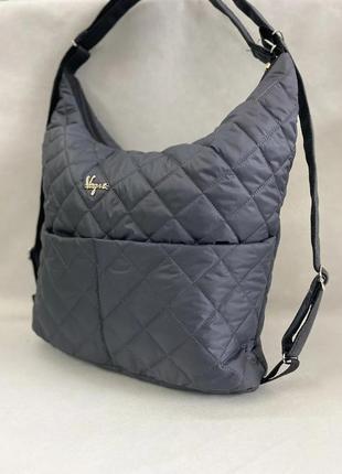 Сумка-рюкзак, стеганая женская сумка, трансформируется в рюкза...