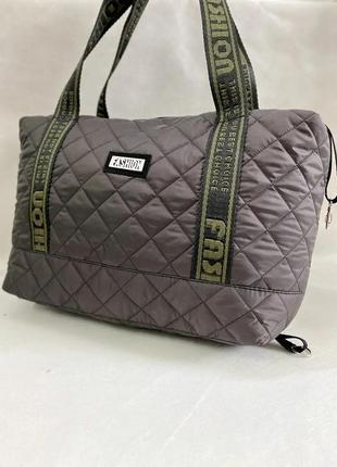 Новая женская сумка, стеганая сумка из плотной болоньи