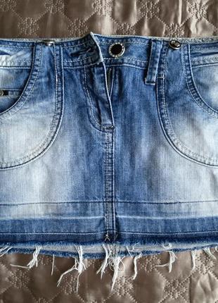 Джинсовая юбка низкой посадки от corneo