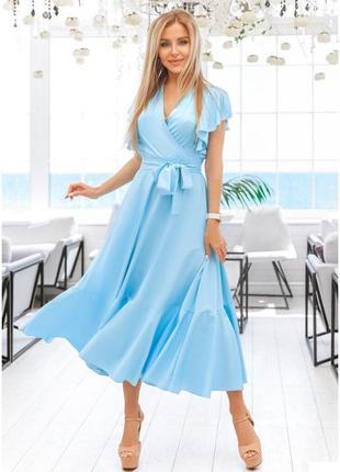 Платье в голубом цвете