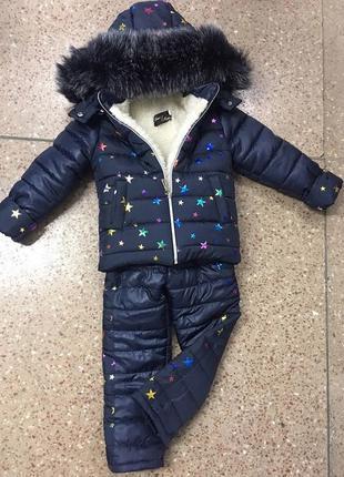 Детский зимний комбинезон-костюм