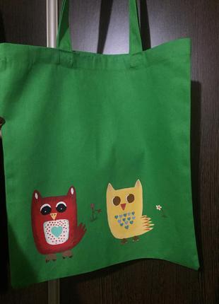 Эко сумка, шоппер с авторским принтом, сумка, shopper