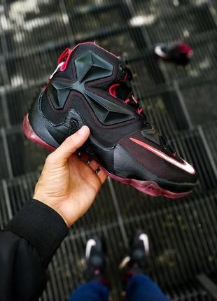 Мужские баскетбольные демисезонные чёрные кроссовки найк nike ...