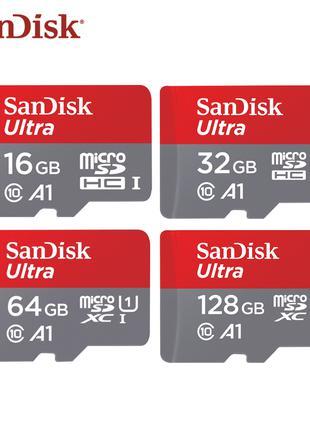 Карта памяти micro sd SanDisk 98mb класс 10 A1 16,32,64,128 Гб