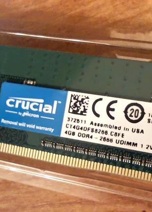 Оперативная память CRUCIAL  DDR4-2666 4Gb/2
