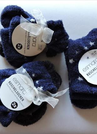 Комплект esmara,2 штуки, носки плюшевые теплые в звезды