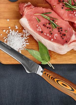 Дамаск 71 слой VG10 60-62 ед. твердости универсал. кухонний нож