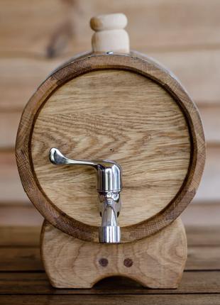 Жбан (бочка) дубовый для напитков 5 литров