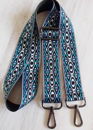 Ремень для сумки широкий яркий с карабинами