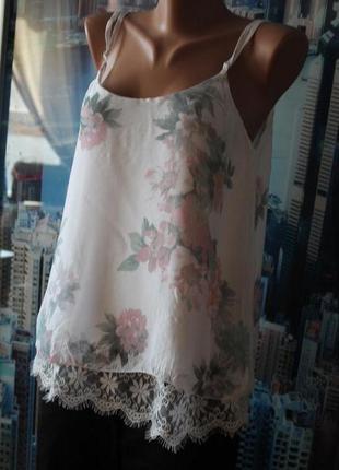 Блуза шелк кружево
