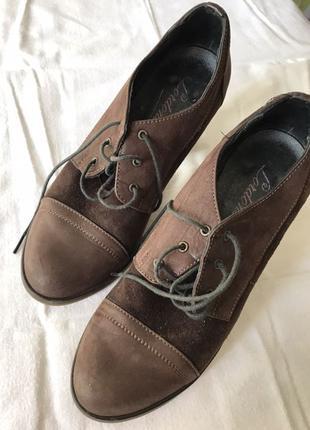 Замшевые туфли 23,5 см 37р