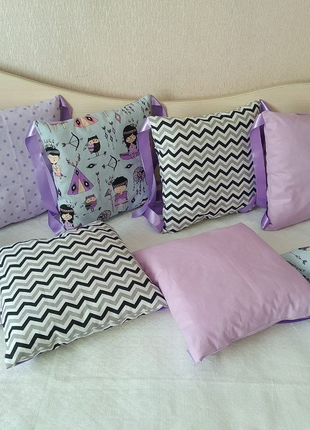 Бортики подушки в детскую кроватку