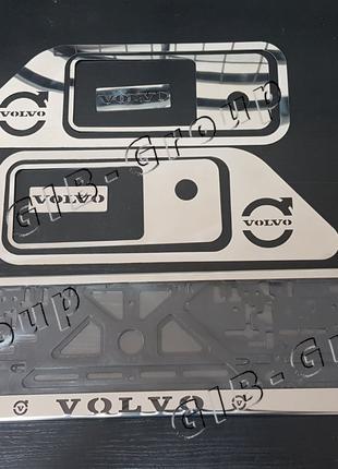 Набор рамка номерного знака + окантовка дверных ручек