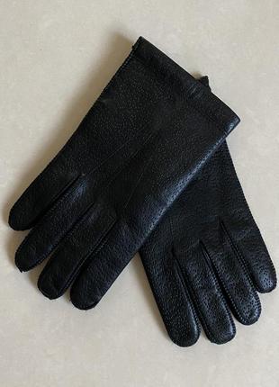 Перчатки кожаные мужские на кашемировой подкладке италия разме...