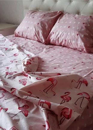 Постельный комплект из бязи фламинго