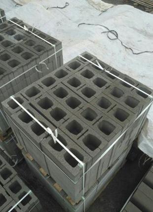 Шлакоблок щебневый 390х190х188 /Шлакоблок щебневий 390х190х188мм.