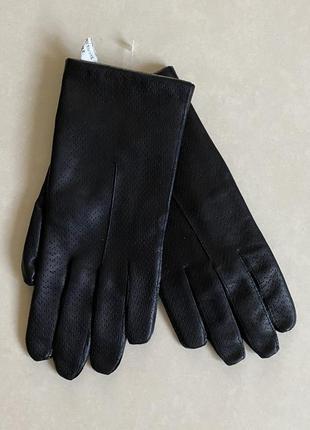 Перчатки кожаные женские италия размер s, 7