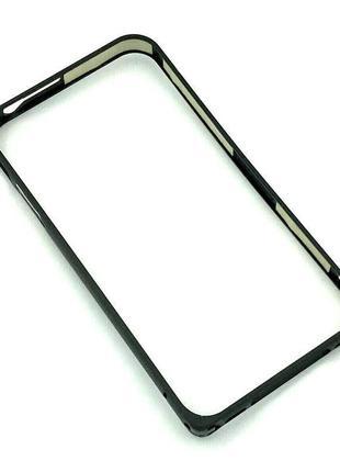 Чехол Бампер Metall Corner Lock iPhone 4/4S Black