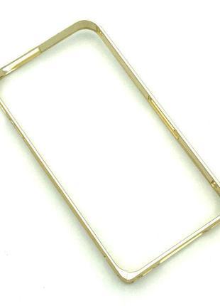 Чехол Бампер Metall Corner Lock iPhone 4/4S Gold