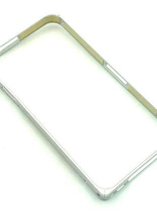 Чехол Бампер Metall Corner Lock iPhone 4/4S Silver