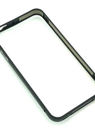 Чехол Бампер Metall iPhone 4/4S Black