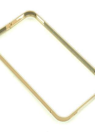 Чехол Бампер Metall iPhone 4/4S Gold
