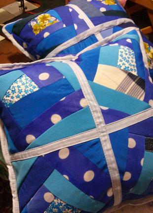 Лоскутные наволочки на диванные подушки