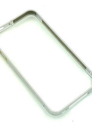 Чехол Бампер Metall iPhone 4/4S Silver