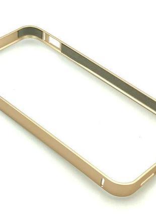 Чехол Бампер Metall iPhone 5/5S Gold