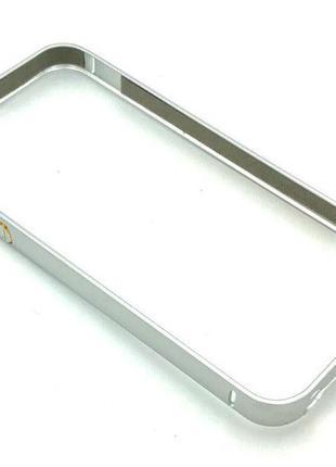 Чехол Бампер Metall iPhone 5/5S Silver