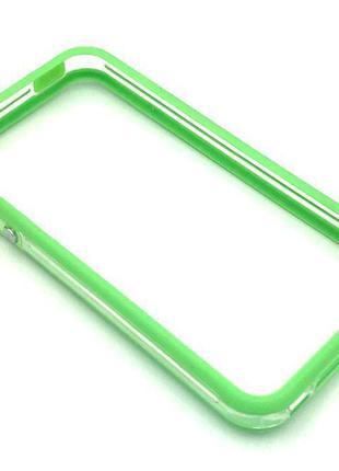 Чехол Бампер Plastic iPhone 4/4S Green