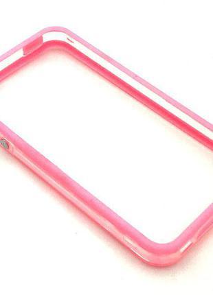 Чехол Бампер Plastic iPhone 4/4S Pink