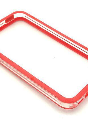Чехол Бампер Plastic iPhone 4/4S Red