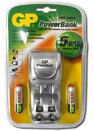 Зарядное Устройство Для Аккумуляторов Gp S100 + 2 Аккумулятора Аа