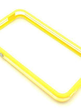 Чехол Бампер Plastic iPhone 4/4S Yellow