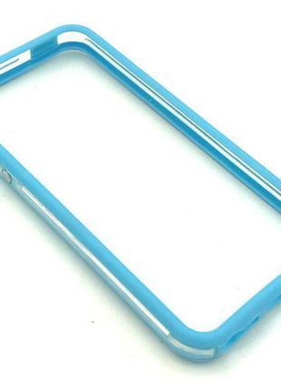Чехол Бампер Plastic iPhone 5/5S Blue