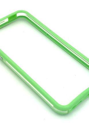 Чехол Бампер Plastic iPhone 5/5S Green