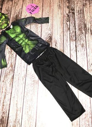 Новогодний костюм Халк для мальчика 3-4 года, 98-104 см