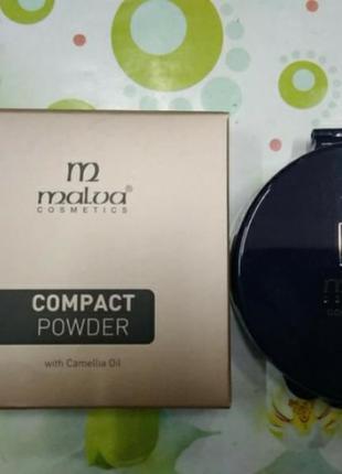 Пудра для обличчя malva cosmetics compact powder pm2504 № 06