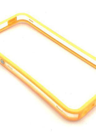 Чехол Бампер Plastic iPhone 5/5S Orange