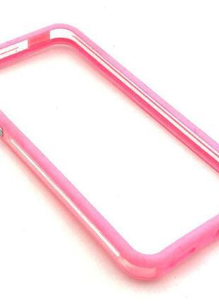 Чехол Бампер Plastic iPhone 5/5S Pink