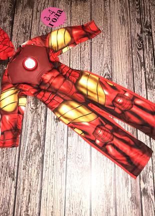 Новогодний костюм Железный человек для мальчика 3-4 года, 98-104