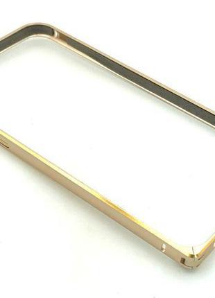 Чехол Бампер Metall Corner Lock iPhone 6/6S Gold