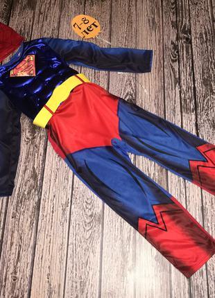 Новогодний костюм Spider man для мальчика 7-8 лет, 122-128 см